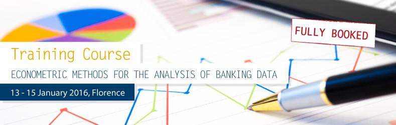 Training on Econometric methods for the analysis of banking data