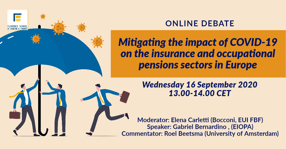 Mitigating the impact of COVID-19 on the insurance and occupational pensions sectors in Europe